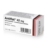 ANTIFLAT, 42 mg, kramtomosios tabletės, N50 paveikslėlis