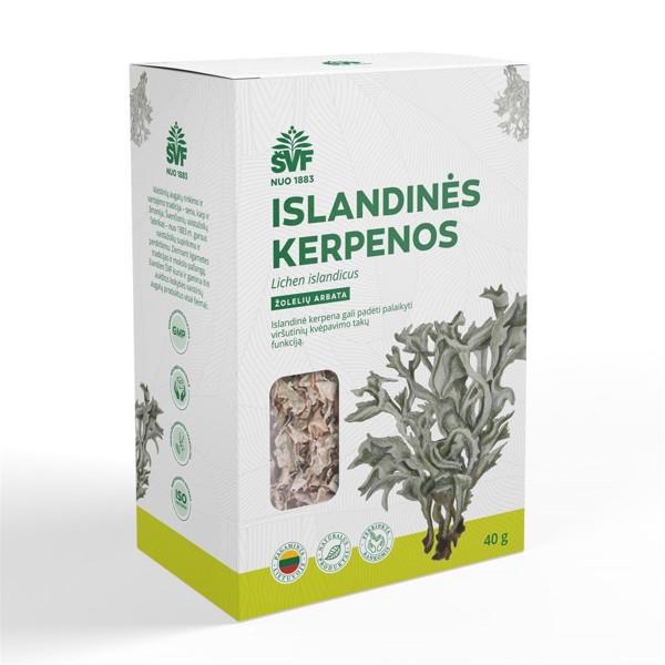 ACORUS ISLANDINĖS KERPENOS, žolelių arbata, 40 g paveikslėlis