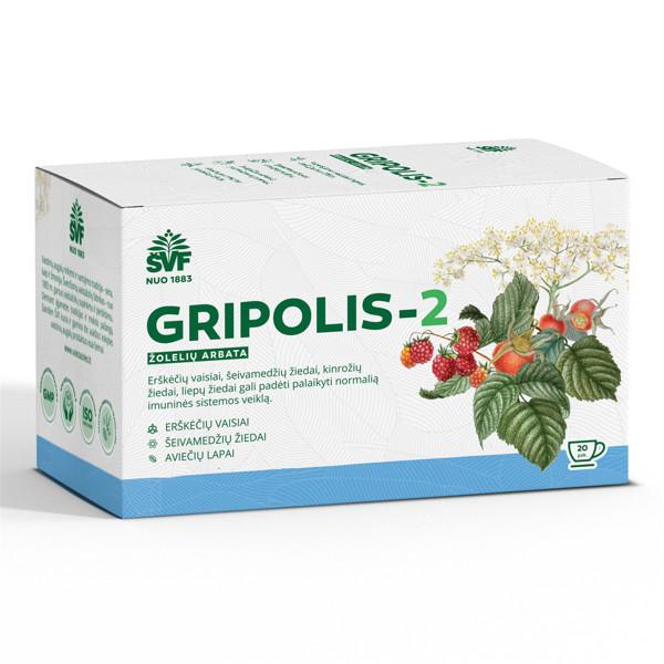 ACORUS GRIPOLIS-2, 2 g, žolelių arbata, 20 vnt. paveikslėlis