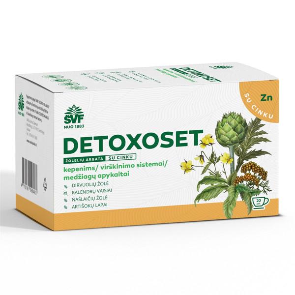 ACORUS DETOXOSET, 2 g, žolelių arbata, 20 vnt. paveikslėlis