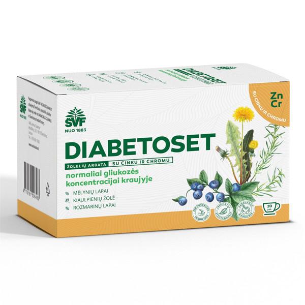 ACORUS DIABETOSET, 1,5 g, žolelių arbata, 20 vnt. paveikslėlis