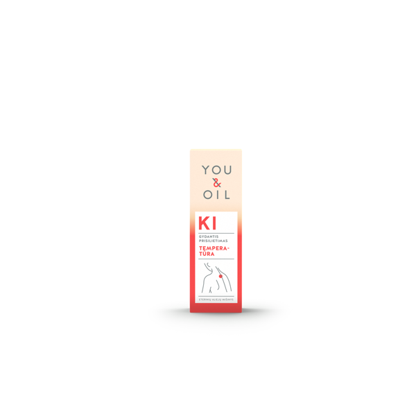 YOU&OIL KI  aromaterapinis mišinys TEMPERATŪRA,  5ml paveikslėlis