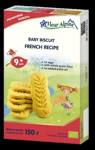 """""""Prancūziški"""" ekologiški sausainiai FLEUR ALPINE, nuo 9 mėnesių, 150 g paveikslėlis"""