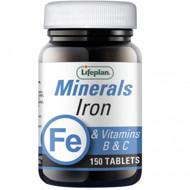 IRON+VITAMINS B&C, LIFEPLAN, geležies kompleksas, 150 tablečių paveikslėlis