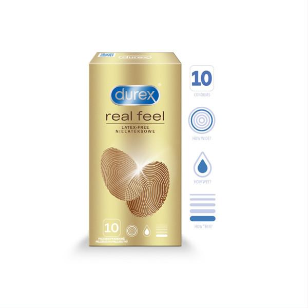 DUREX REAL FEEL, prezervatyvai, 10 vnt. paveikslėlis