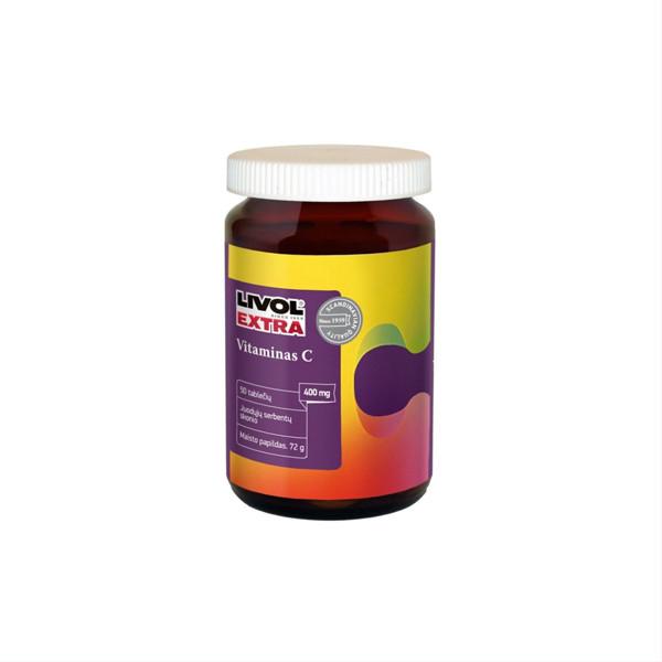 LIVOL EXTRA VITAMINAS C, 50 kramtomųjų tablečių paveikslėlis
