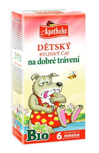 """APOTHEKE BIO""""Po gausių pietų"""" žolelių arbata vaikams  nuo 6 mėnesių, 1,5g N20 paveikslėlis"""