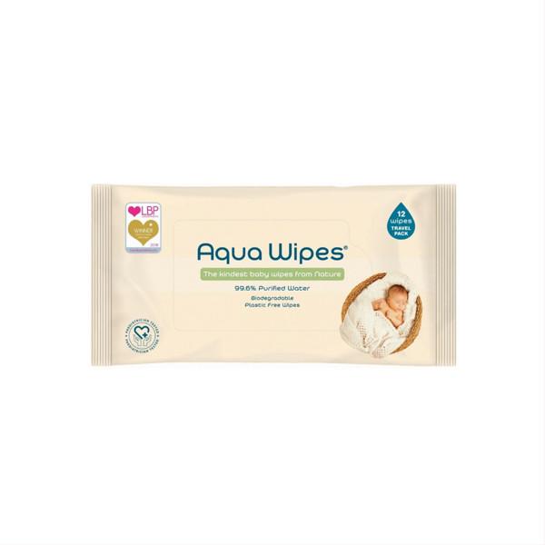 AQUA WIPES, drėgnos servetėlės, 12 vnt., AQW12F12P paveikslėlis