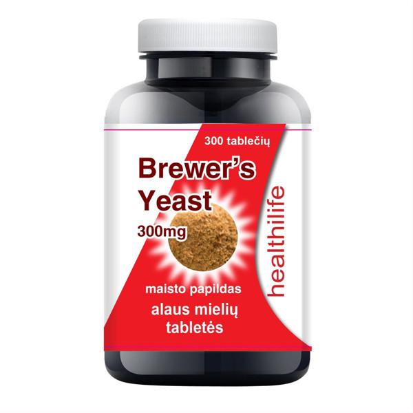 HEALTHILIFE BREWERS YEAST, alaus mielės, 300 mg, 300 tablečių paveikslėlis
