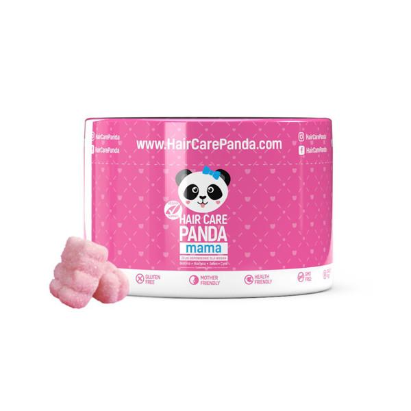 """Maisto papildas """"Hair Care Panda Mama"""" plaukų priežiūrai, 150 g, 30 guminukų"""