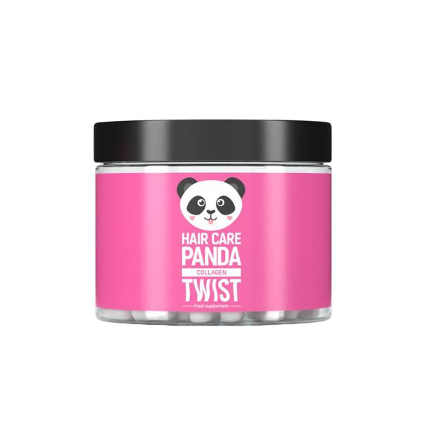 """Maisto papildas """"Hair Care Panda Collagen Twist"""" plaukų priežiūrai, 29,7 g, 60 kapsulių"""