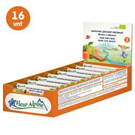 """""""Fleur Alpine"""" ekologiški avižiniai batonėliai su obuoliais ir abrikosais tinka vaikams nuo 3 metų, 23 g x 16 vnt. paveikslėlis"""