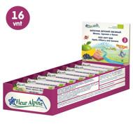 """""""Fleur Alpine"""" ekologiški avižiniai batonėliai su obuoliais, mėlynėmis ir bananais tinka vaikams nuo 3 metų, 23 g x 16 vnt. paveikslėlis"""