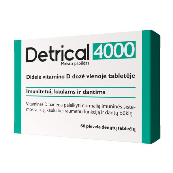 DETRICAL 4000 IU, 60 plėvele dengtų tablečių paveikslėlis