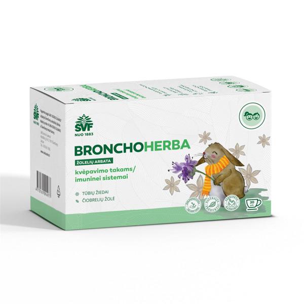 ACORUS BRONCHOHERBA VAIKAMS, 1,5 g, žolelių arbata, 20 vnt. paveikslėlis