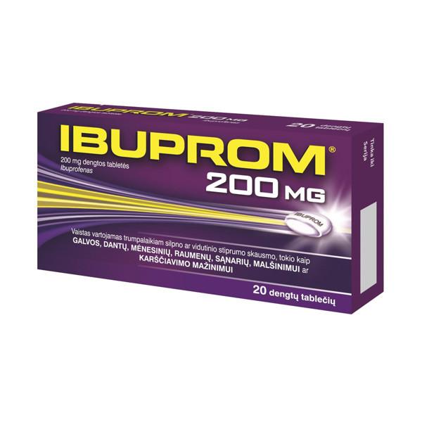 IBUPROM, 200 mg, dengtos tabletės, N20  paveikslėlis
