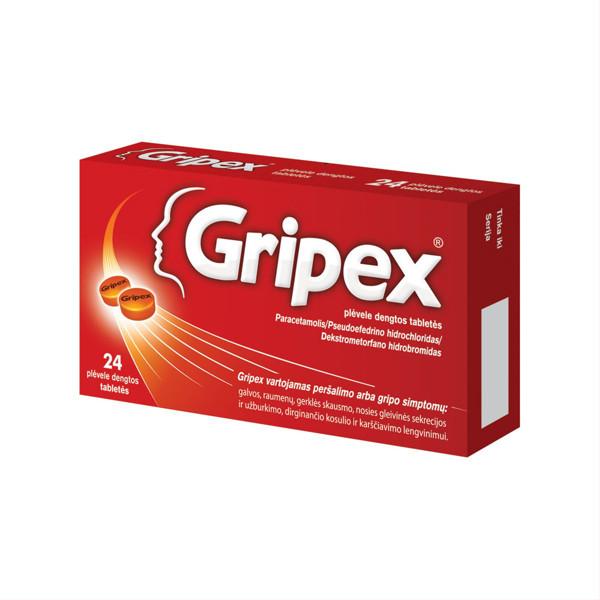 GRIPEX, plėvele dengtos tabletės, N24  paveikslėlis