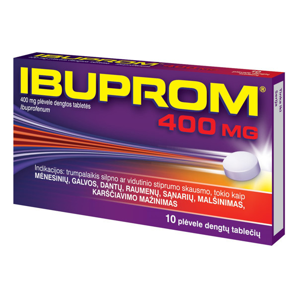 IBUPROM, 400 mg, plėvele dengtos tabletės, N10 paveikslėlis
