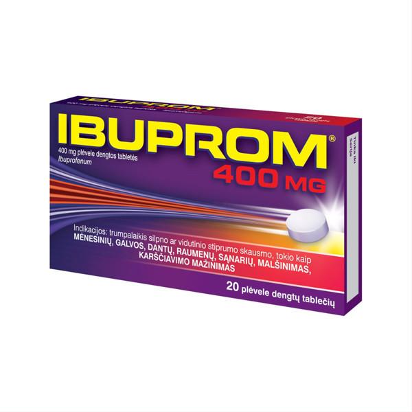 IBUPROM, 400 mg, plėvele dengtos tabletės, N20 paveikslėlis
