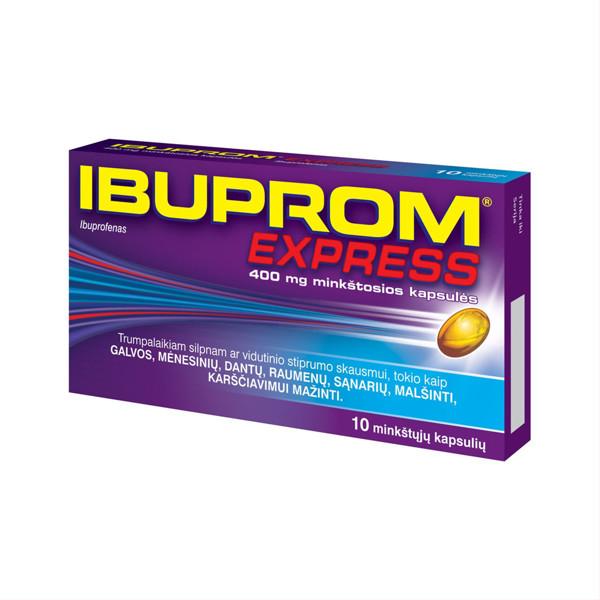 IBUPROM EXPRESS, 400 mg, minkštosios kapsulės, N10 paveikslėlis