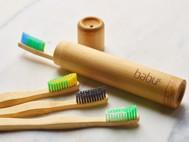 BABU bambukinis vaikiško dantų šepetėlio dėklas paveikslėlis