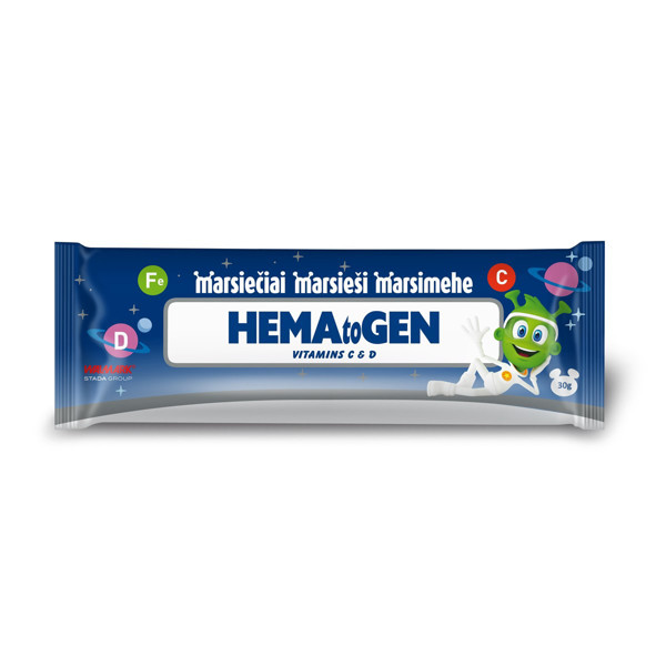 Marsiečiai hematogenas su vitaminu C ir D paveikslėlis
