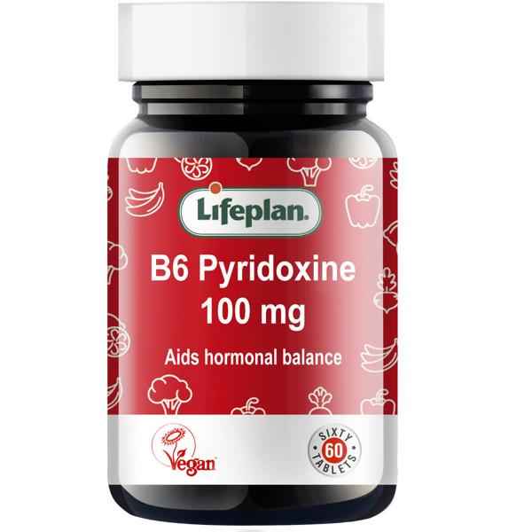 LIFEPLAN VITAMINAS B6 100 mg, 60 tablečių paveikslėlis