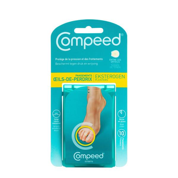 COMPEED, kojų pirštų nuospaudų pleistrai, tarp kojų pirštų, 10 vnt. paveikslėlis