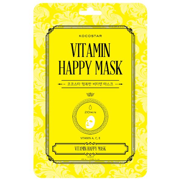 Kocostar skaistinanti veido kaukė Happy Mask su Vitaminais C ir E