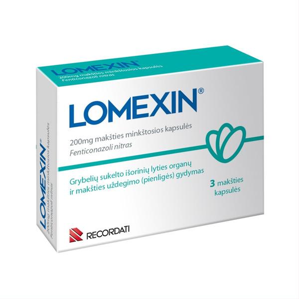 LOMEXIN, 200 mg, makšties minkštosios kapsulės, N3  paveikslėlis