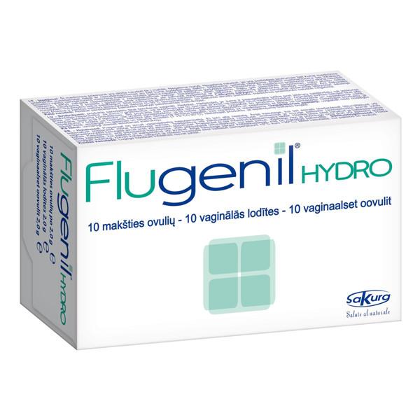 FLUGENIL HYDRO, 10 makšties ovulių paveikslėlis