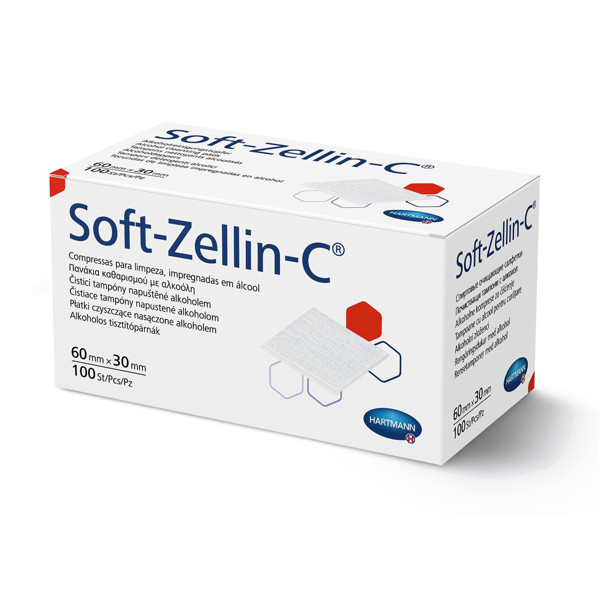 SOFT-ZELLIN-C, spiritinės servetėlės, 100 vnt. paveikslėlis