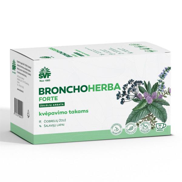 ACORUS BRONCHOHERBA FORTE, 1,5 g, žolelių arbata, 20 vnt. paveikslėlis