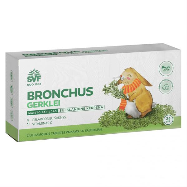 ACORUS BRONCHOS, vaikams su islandine kerpena, 24 tabletės paveikslėlis