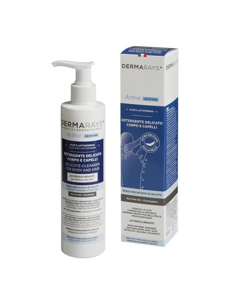 DERMARAYS ACTIVE ALL-IN-ONE, Švelnus kūno/plaukų prausiklis su alijošiumi ir laktoferinu, 250 ml paveikslėlis
