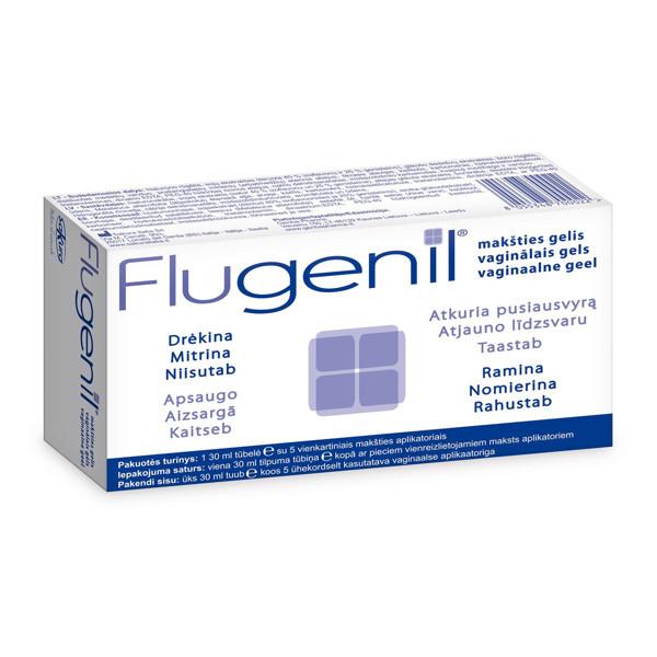 FLUGENIL, makšties gelis su 5 aplikatoriais, 30 ml paveikslėlis