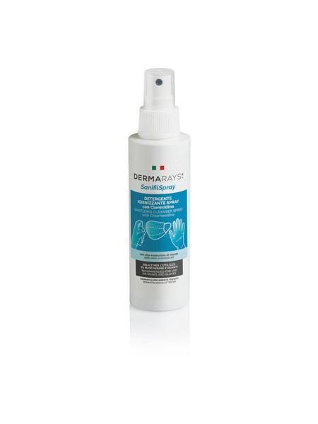 DERMARAYS SANIFILSPRAY Vienkartinių kaukių/pirštinių antibakterinis purškiklis su chlorhek. 100 ml paveikslėlis