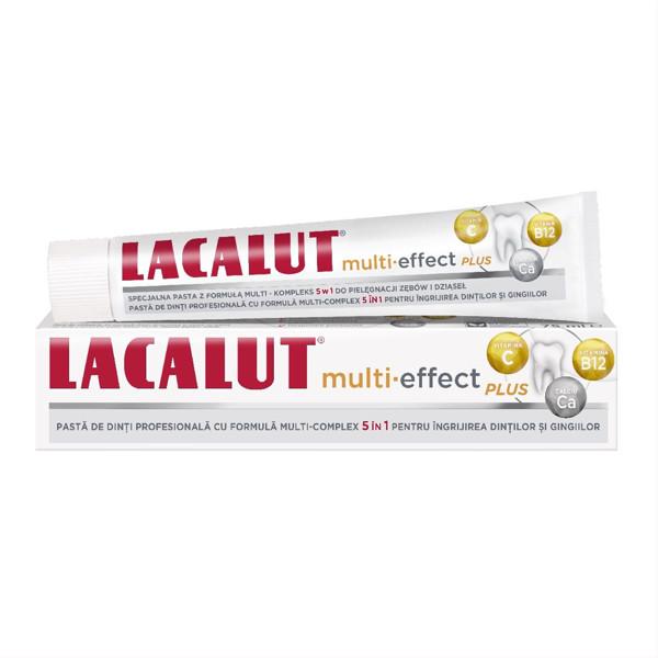 LACALUT MULTI-EFFECT PLUS, dantų pasta su vitaminais ir mineralais, 75 ml paveikslėlis