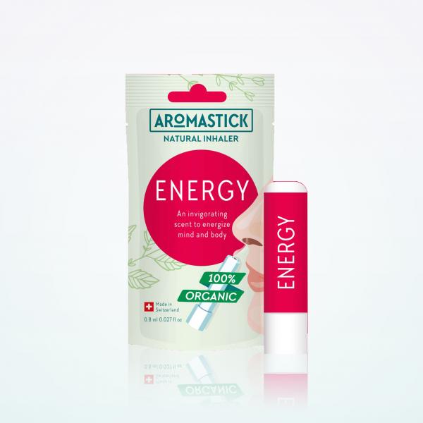 """Aromastick 100% natūralus uostukas - nosies inhaliatorius """"Energy"""" paveikslėlis"""