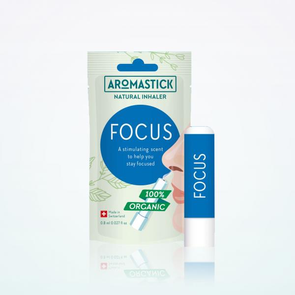 """Aromastick 100% natūralus uostukas - nosies inhaliatorius """"Focus"""" paveikslėlis"""