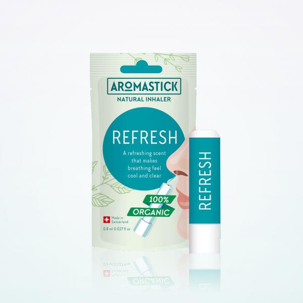"""Aromastick 100% natūralus uostukas - nosies inhaliatorius """"Refresh"""" paveikslėlis"""