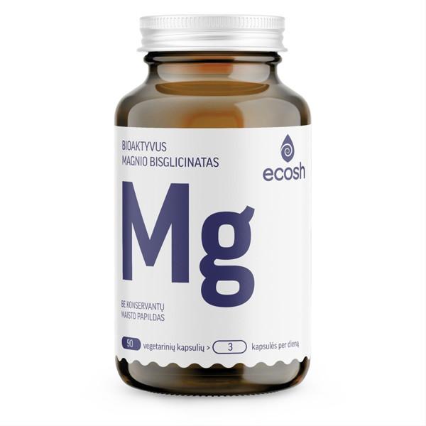 ECOSH bioaktyvus Magnis su vitaminais C ir B6, 90 kapsulių paveikslėlis