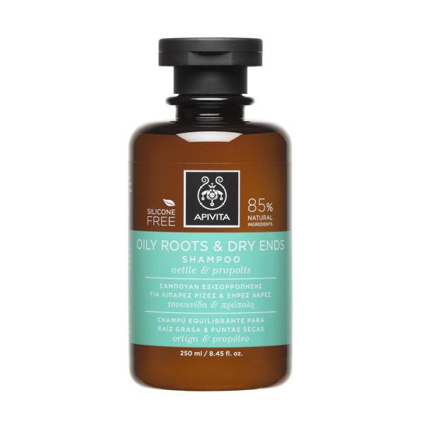 APIVITA, šampūnas, riebios šaknys ir sausi galiukai, 250 ml paveikslėlis