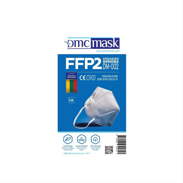 Apsauginis respiratorius FFP2, DM-002, 2 vnt. paveikslėlis