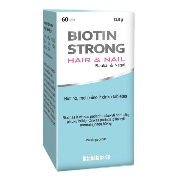 BIOTIN STRONG HAIR&NAIL, 60 tablečių paveikslėlis