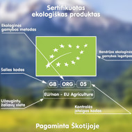 """""""Obuolių, bananų, aviečių ir bolivinių balandų"""" ekologiška tyrelė FLEUR ALPINE, nuo 8 mėnesių, 120 g X 6 vnt paveikslėlis"""