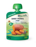 """""""Saldžiųjų bulvių (batatų)"""" ekologiška tyrelė FLEUR ALPINE, nuo 4 mėnesių, 90 g X 6 vnt paveikslėlis"""