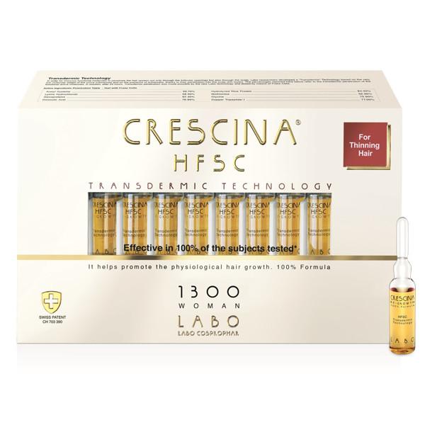 CRESCINA TRANSDERMIC HFSC 1300, moterims, plaukų atauginimui, 3,5 ml, 20 ampulių paveikslėlis