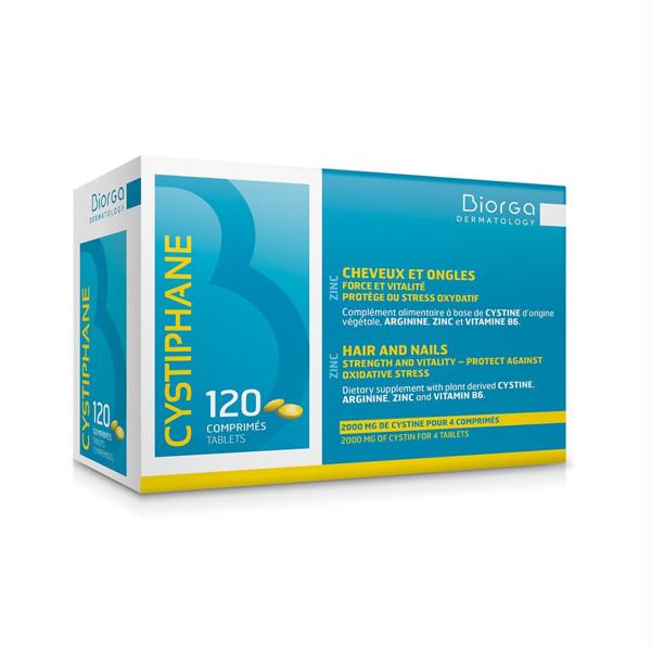 BIORGA CYSTIPHANE, plaukams ir nagams, 120 tablečių paveikslėlis