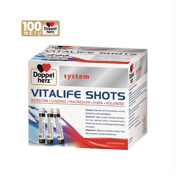DOPPELHERZ SYSTEM VITALIFE SHOTS, 30 buteliukų paveikslėlis